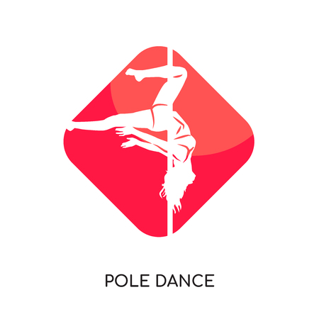 Pole dance isolated on white background for your web and mobile app design.