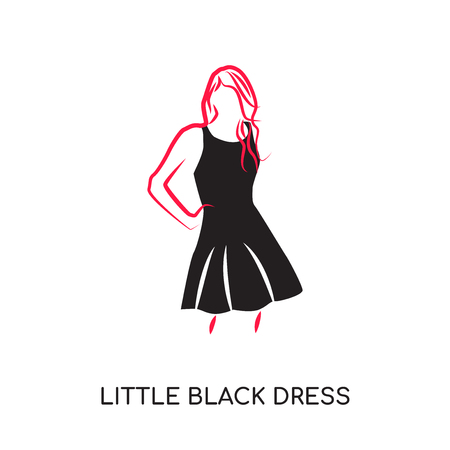 Little black dress isolated on white background for your web and mobile app design.