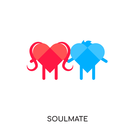 Soulmate isolated on white background for your web and mobile app design. Illustration