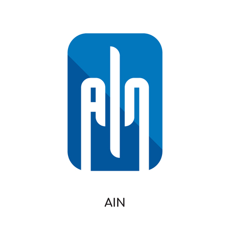 ain logo isolated on white background for your web and mobile app design , colorful vector icon, brand sign & symbol for your business