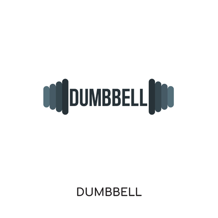 dumbbell logo isolated on white background for your web and mobile app design , colorful vector icon
