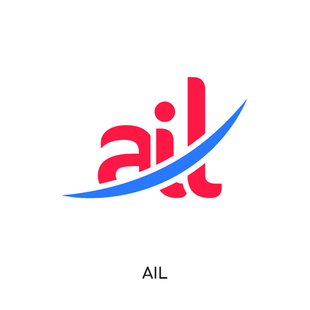 ail logo isolated on white background for your web and mobile app design , colorful vector icon, brand sign & symbol for your business