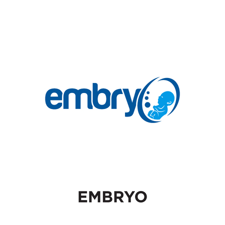 embryo logo isolated on white background for your web and mobile app design , colorful vector icon, brand sign & symbol for your business Logo