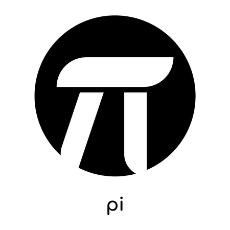 pi symbol images isolated on white background for your web and mobile app design , black vector sign and symbols Иллюстрация