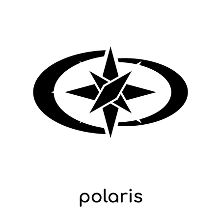 polaris symbol isolated on white background for your web and mobile app design , black vector sign and symbols