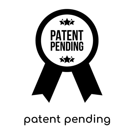 patent pending symbol isolated on white background for your web and mobile app design , black vector sign and symbols Иллюстрация
