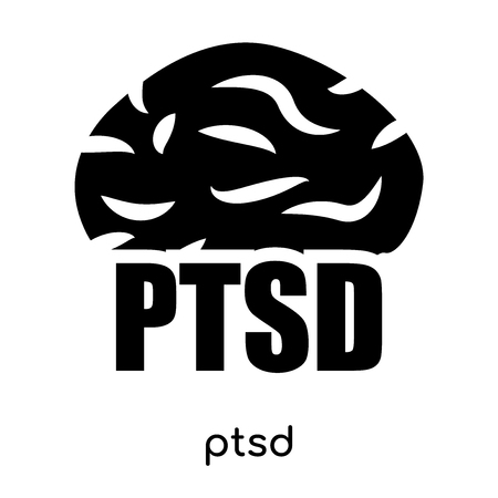ptsd symbol isolated on white background for your web and mobile app design , black vector sign and symbols Illustration