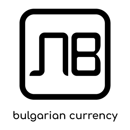 Bulgarian currency symbol isolated on white background for your web and mobile app design , black vector sign and symbols Ilustrace
