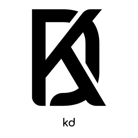 kd symbol isolated on white background for your web and mobile app design , black vector sign and symbols