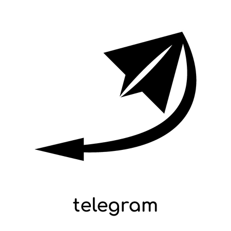 telegram symbol isolated on white background for your web and mobile app design , black vector sign and symbols