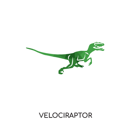 velociraptor logo isolated on white background for your web and mobile app design , colorful vector icon, brand sign & symbol for your business Çizim