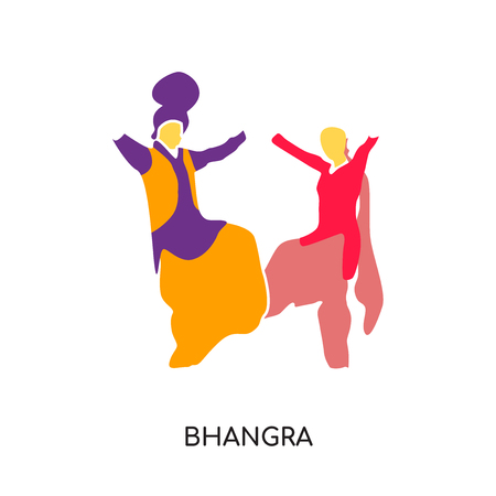 bhangra logo isolated on white background for your web and mobile app design , colorful vector icon, brand sign & symbol for your business
