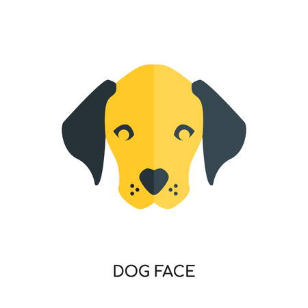 dog face logo isolated on white background for your web and mobile app design , colorful vector icon Illustration