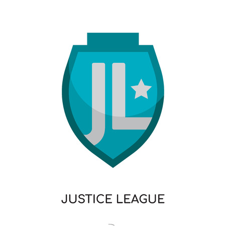 logo justice league isolated on white background for your web and mobile app design , colorful vector icon, brand sign & symbol for your business