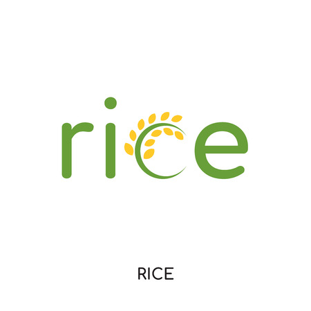 logo rice isolated on white background for your web and mobile app design , colorful vector icon Illustration