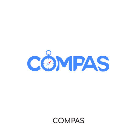 compas logo isolated on white background for your web and mobile app design , colorful vector icon, brand sign & symbol for your business Illustration