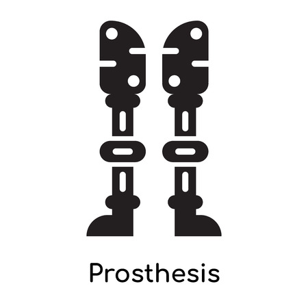 Prosthesis icon isolated on white background for your web and mobile app design , black filled vector sign and symbols Illustration