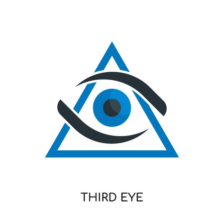 third eye logo isolated on white background for your web and mobile app design , colorful vector icon, brand sign & symbol for your business