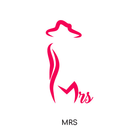 mrs logo isolated on white background for your web and mobile app design , colorful vector icon, brand sign & symbol for your business
