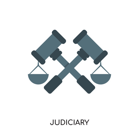 judiciary logo isolated on white background for your web and mobile app design , colorful vector icon, brand sign & symbol for your business Illustration
