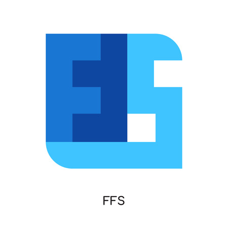 ffs logo isolated on white background for your web and mobile app design , colorful vector icon, brand sign & symbol for your business