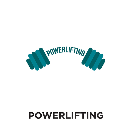 powerlifting logo isolated on white background for your web and mobile app design , colorful vector icon, brand sign & symbol for your business Illustration