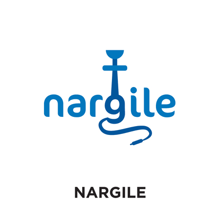 nargile logo isolated on white background for your web and mobile app design , colorful vector icon, brand sign & symbol for your business Illustration