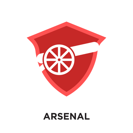 logo arsenal isolated on white background for your web and mobile app design , colorful vector icon, brand sign & symbol for your business