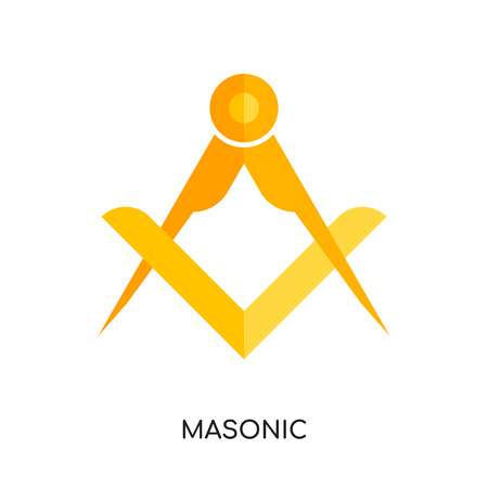 masonic logo isolated on white background for your web and mobile app design colorful vector icon