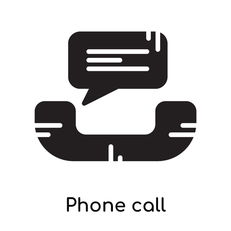 Phone call icon isolated on white background for your web and mobile app design , black filled vector sign and symbols