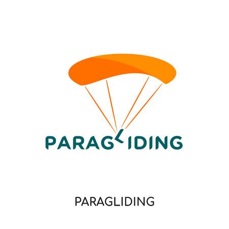 logo de parapente isolé sur fond blanc pour la conception de votre application web et mobile, icône de vecteur coloré, signe de marque et symbole pour votre entreprise Logo