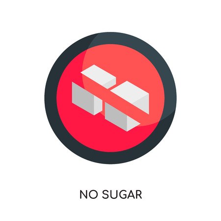 no sugar logo isolated on white background for your web and mobile app design , colorful vector icon, brand sign & symbol for your business
