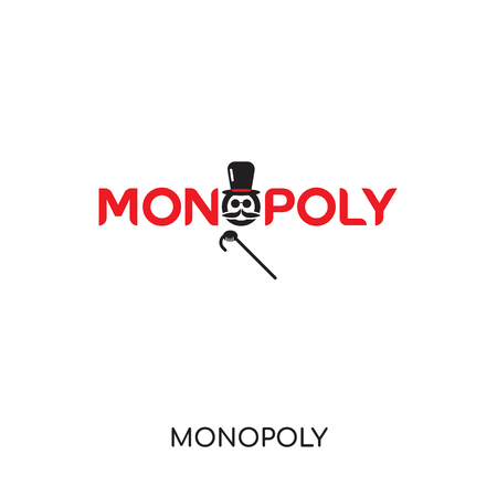 monopoly logo isolated on white background for your web and mobile app design , colorful vector icon, brand sign & symbol for your business