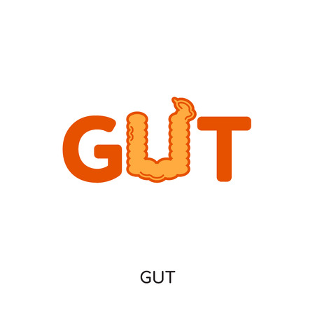 gut logo isolated on white background for your web and mobile app design , colorful vector icon, brand sign & symbol for your business