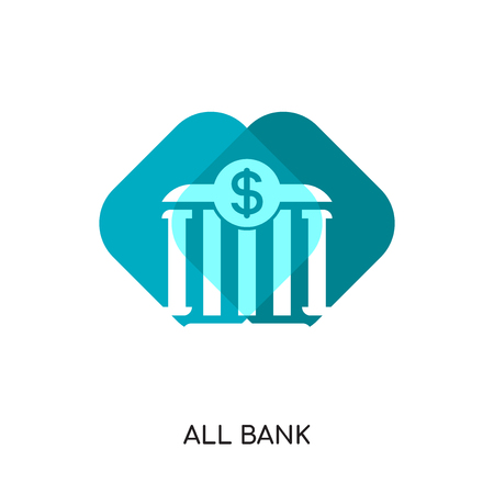 all bank logo isolated on white background for your web and mobile app design , colorful vector icon, brand sign & symbol for your business