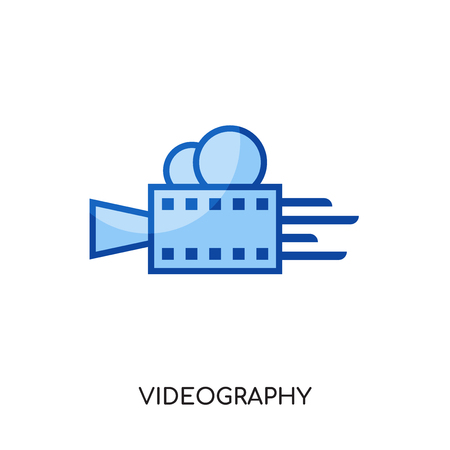 videography logo isolated on white background for your web and mobile app design , colorful vector icon, brand sign & symbol for your business