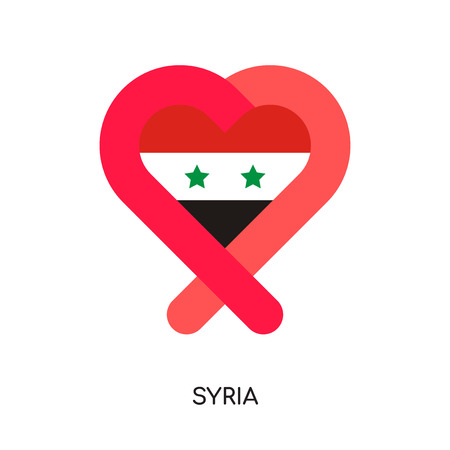 syria logo isolated on white background for your web and mobile app design , colorful vector icon, brand sign & symbol for your business