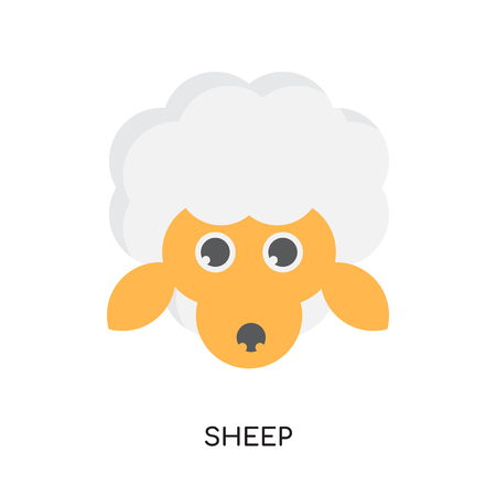 logo sheep isolated on white background for your web and mobile app design , colorful vector icon Illustration