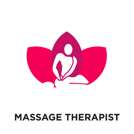 massage therapist logo isolated on white background for your web and mobile app design , colorful vector icon, brand sign & symbol for your business Illustration