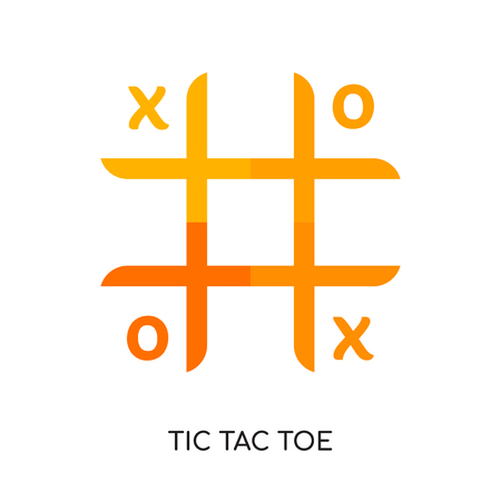 tic tac toe logo isolated on white background for your web and mobile app design , colorful vector icon, brand sign & symbol for your business
