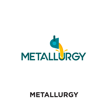 metallurgy logo isolated on white background for your web and mobile app design , colorful vector icon, brand sign & symbol for your business