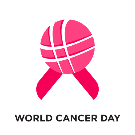 world cancer day logo isolated on white background for your web and mobile app design , colorful vector icon, brand sign & symbol for your business