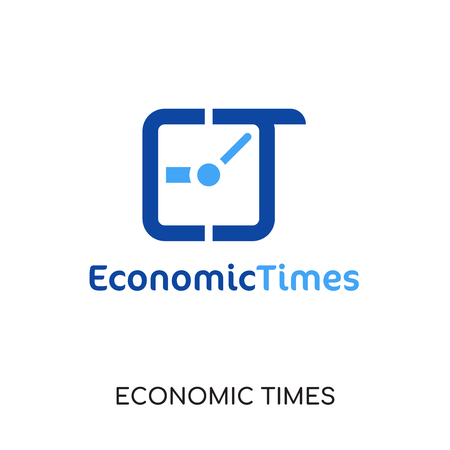 economic times logo isolated on white background for your web and mobile app design , colorful vector icon, brand sign & symbol for your business
