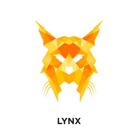lynx logo isolated on white background for your web and mobile app design , colorful vector icon, brand sign & symbol for your business