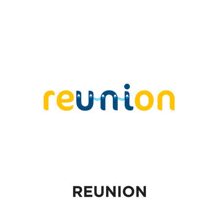 reunion logo isolated on white background for your web and mobile app design , colorful vector icon, brand sign & symbol for your business
