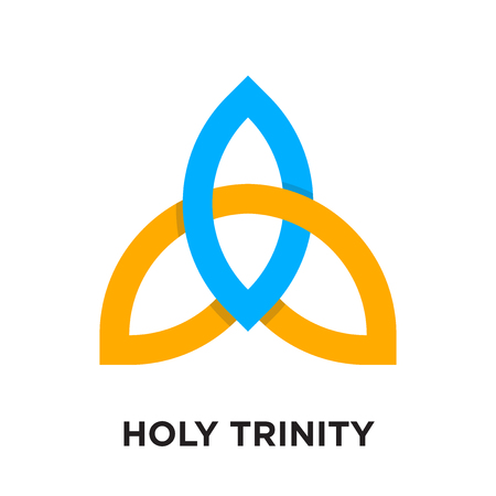 heilige drie-eenheid-logo geïsoleerd op een witte achtergrond voor uw web- en mobiele app-ontwerp, kleurrijk vectorpictogram, merkteken en symbool voor uw bedrijf