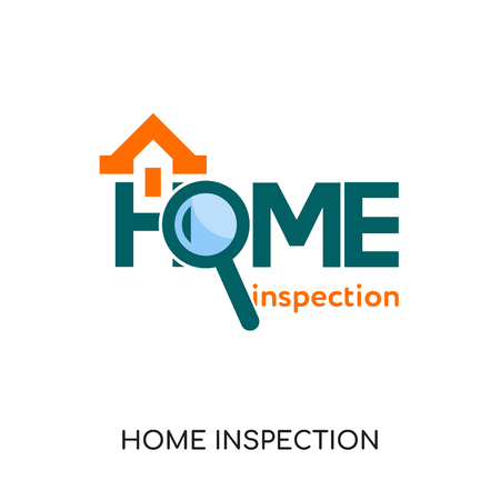home inspection logo isolated on white background for your web and mobile app design , colorful vector icon, brand sign & symbol for your business