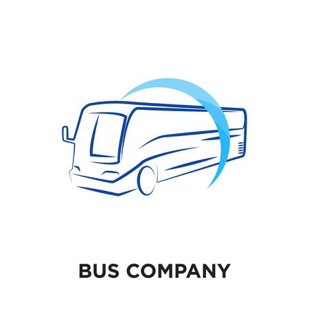 bus company logo isolated on white background for your web and mobile app design , colorful vector icon, brand sign & symbol for your business