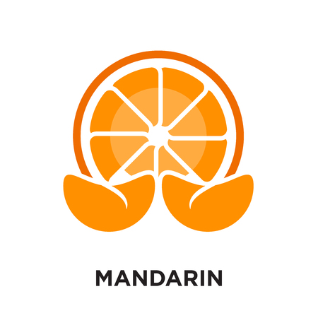 mandarin logo isolated on white background for your web and mobile app design , colorful vector icon, brand sign & symbol for your business