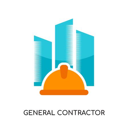 logo de l'entrepreneur général isolé sur fond blanc pour la conception de votre application web et mobile, icône de vecteur coloré, signe de marque et symbole pour votre entreprise